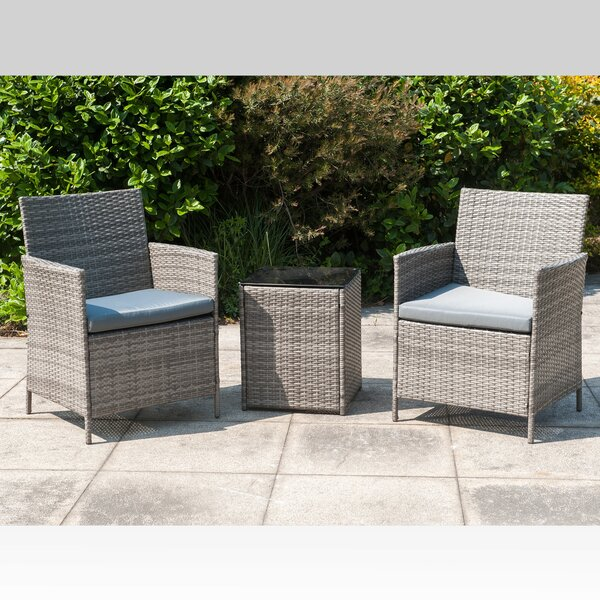 Lafever 3 Piece Seating Group with Cushions by Brayden Studio