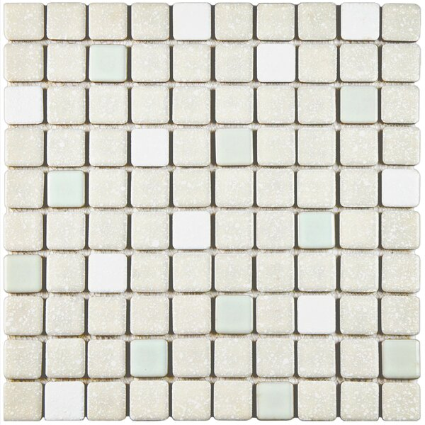 Minerva 1.1 x 1.1 Porcelain Mosaic Tile in Pistachio by EliteTile