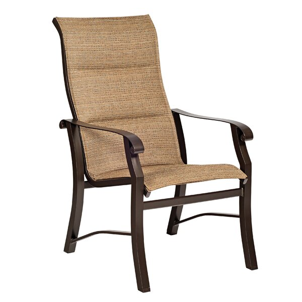Cortland Sling High-Back Patio Dining Chair by Woodard