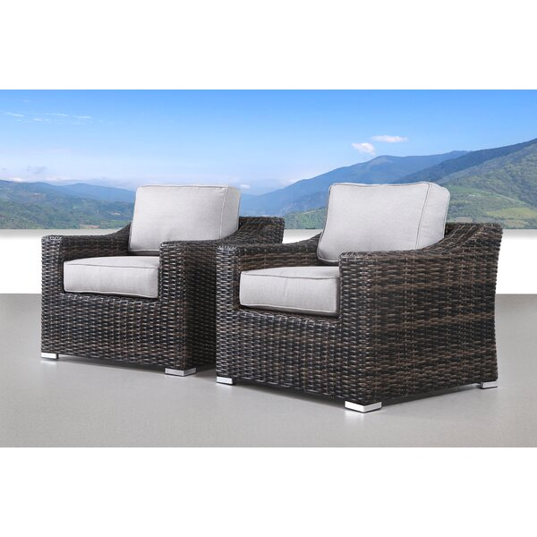 Dayse Patio Chair with Cushions (Set of 2) by Sol 72 Outdoor