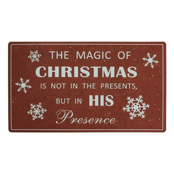 Magic of Christmas Doormat by Attraction Design Home