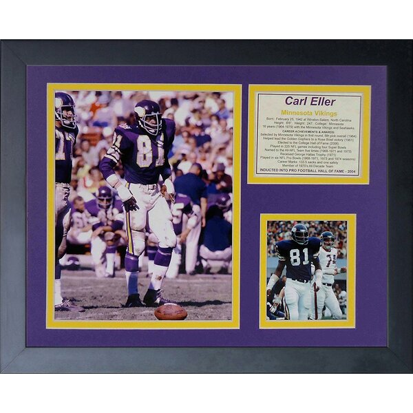 Carl Eller Framed Memorabilia by Legends Never Die