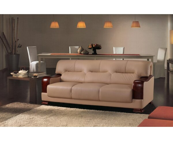 Tourmaline Leather 3 Piece Living Room Set by Hokku Designs