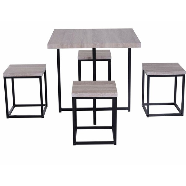Moya Space Saving 5 Piece Dining Set by Union Rustic