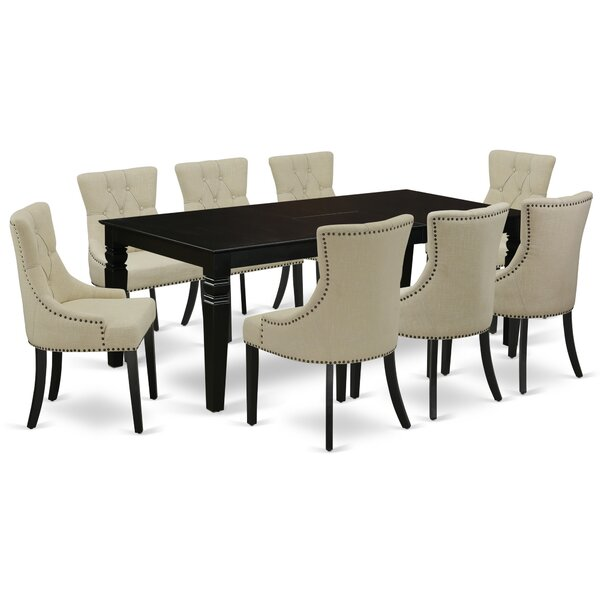 Lelystad 9 Piece Extendable Solid Wood Dining Set by Winston Porter Winston Porter