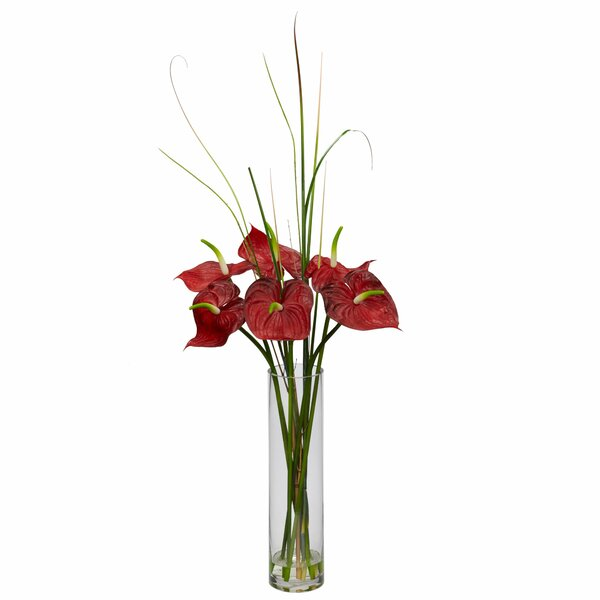 Tropical Anthurium with Cylinder Arrangement by Nearly Natural