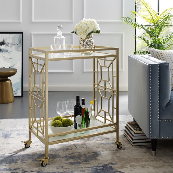 Jaxen Serving Bar Cart by Everly Quinn