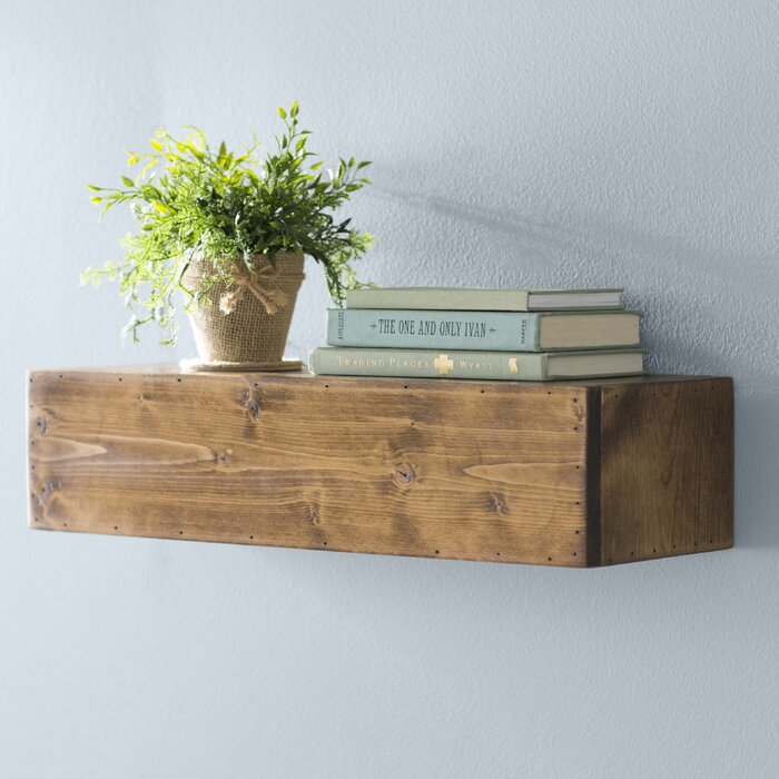 shelving products natural sustainable walnut organic reclaimed hanging home wood solid live shelf edge