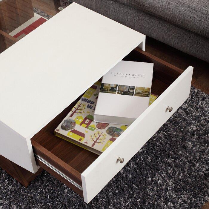 Wade Logan Madilynn Coffee Table With Storage Reviews Wayfair Ca