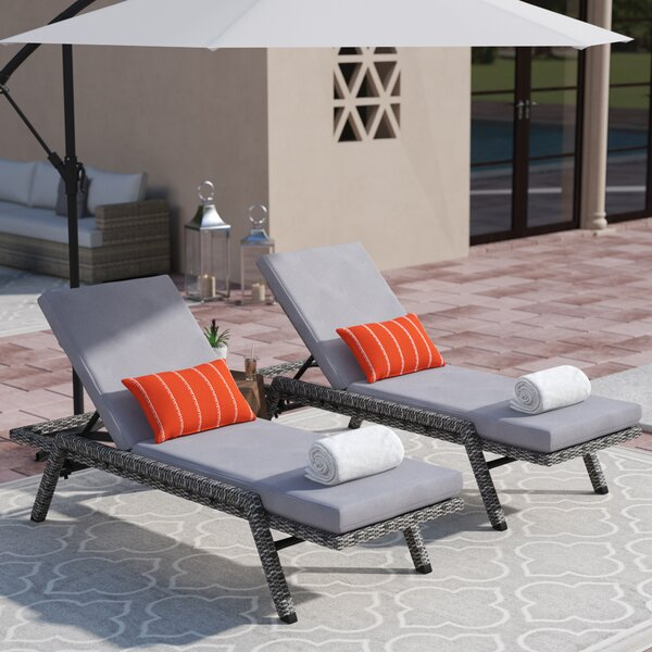 Thebes Sun Lounger Set with Cushion (Set of 2)