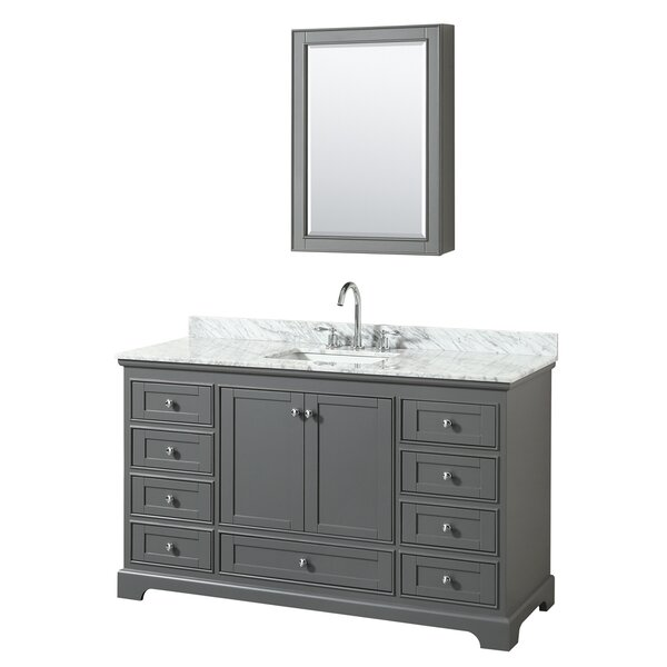 Deborah 60 Single Bathroom Vanity Set with Medicine Cabinet by Wyndham Collection