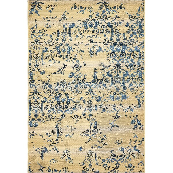 Eris Floral and Plants Beige Indoor/Outdoor Area Rug by Ophelia & Co.