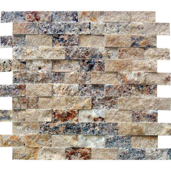 Tuscany Scabas 1 x 2 Travertine Splitface Tile in Gold by MSI