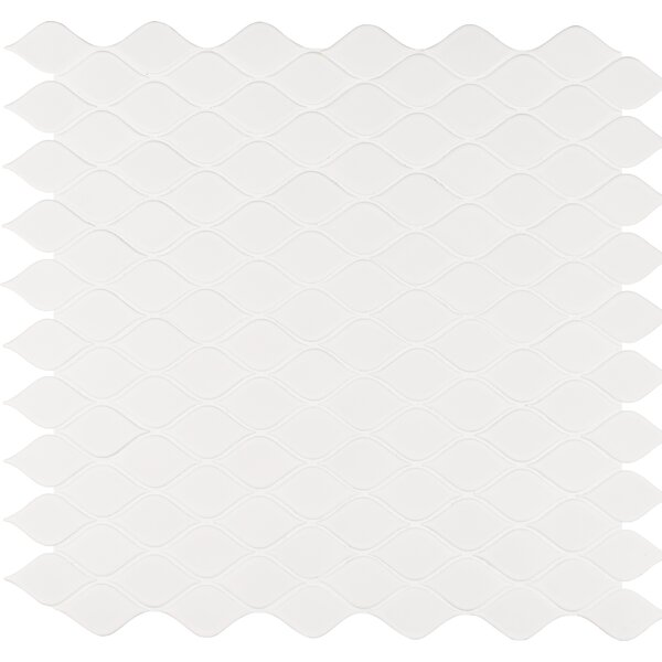 Tear Drop Porcelain Mosaic Tile in White by MSI