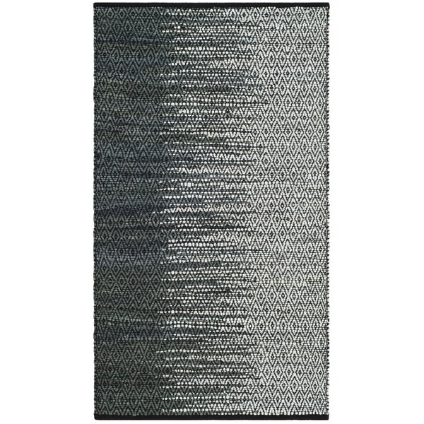 Makenna Hand-Woven Light Grey/Charcoal Area Rug by Mistana