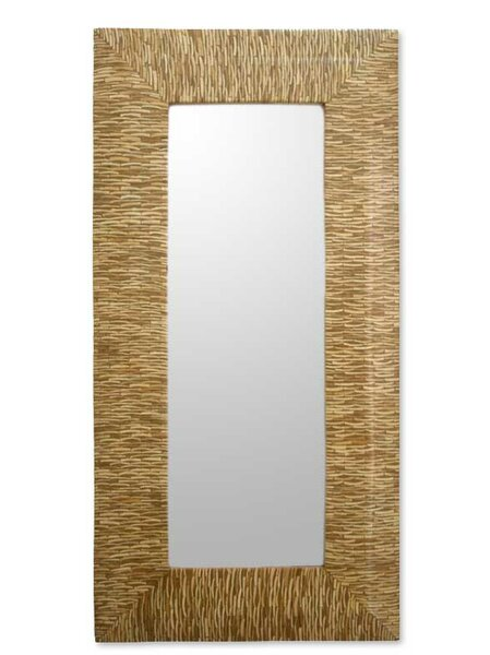 Blonde Lattice Mirrors Accent Mirror by Novica