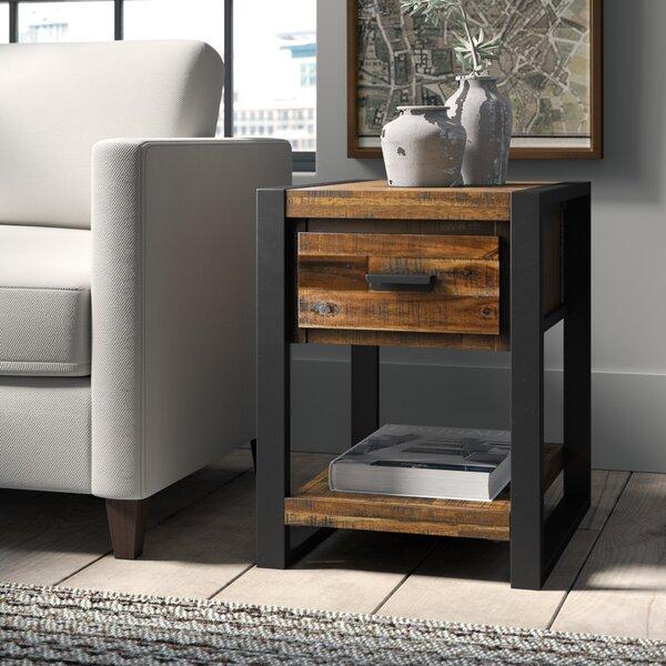Telfair Sled End Table With Storage By Greyleigh