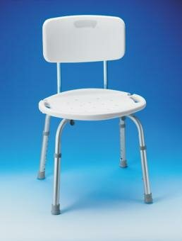 Adjustable Bath and Shower Seat with Back by Carex