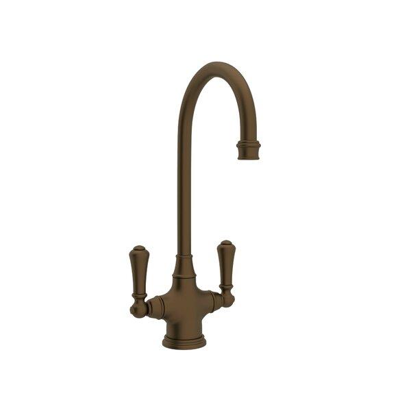 Perrin & Rowe® Georgian Era™ 2-Handle Bar/Food Prep Faucet With Lever Handles In English Bronze By Perrin & Rowe