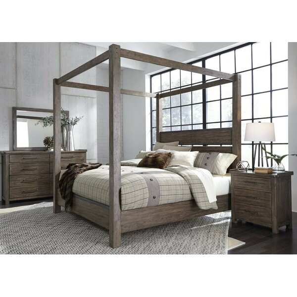 Clayton Panel Four Poster Canopy Configurable Bed Set by Gracie Oaks