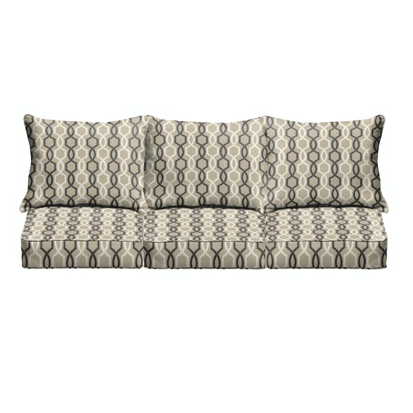Bank 6 Piece Indoor/Outdoor Sofa Cushion Set by Darby Home Co