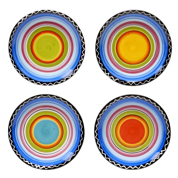 Recinos Canape Plate (Set of 4) by World Menagerie