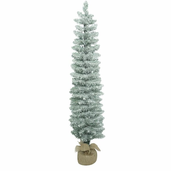 7cfe401baaaf1 Frosted Pole 4 Green Pine Artificial Christmas Tree By The Holiday Aisle.
