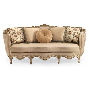 Drakeford French Carved Wood Sofa