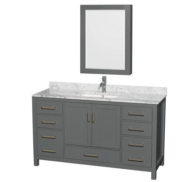 Sheffield 60 Single Bathroom Vanity Set with Medicine Cabinet by Wyndham Collection