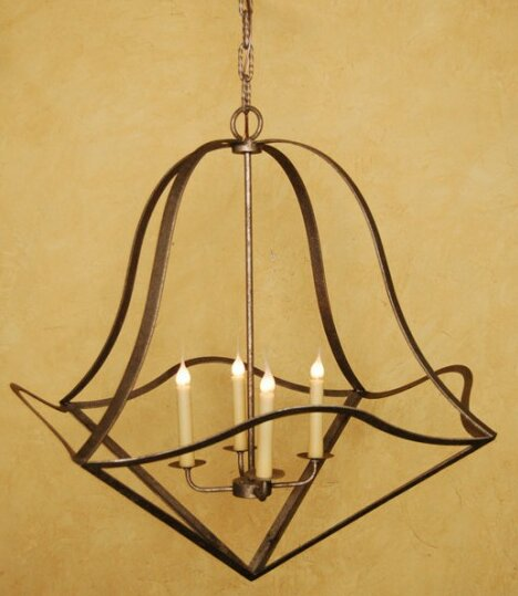 Walkerville 4 - Light Unique / Statement Geometric Chandelier By Fleur De Lis Living