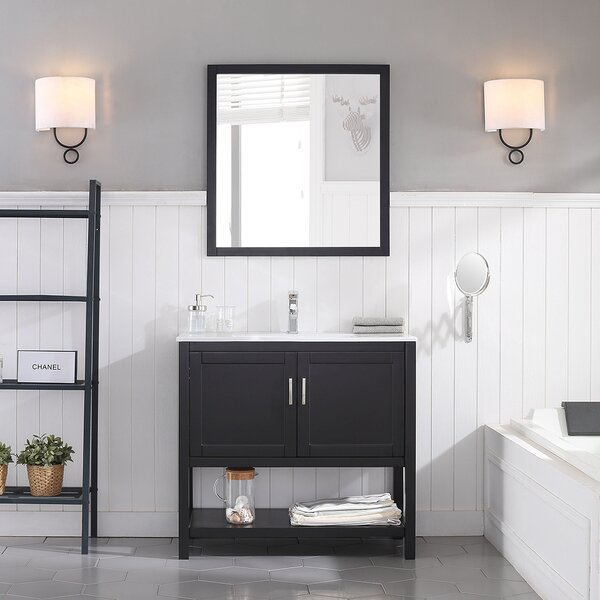 Mattis 35 Single Bathroom Vanity Set with Mirror b