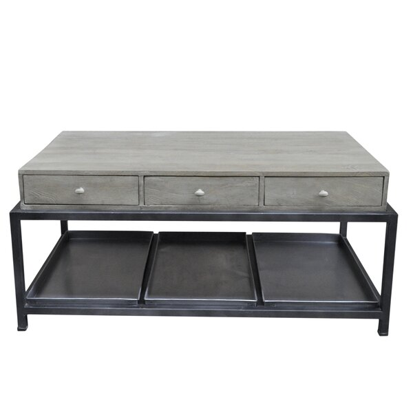 Morrissey-Bickerton 6 Drawer Coffee Table with Storage by Gracie Oaks