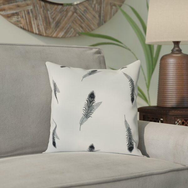 Lassiter Feather Floral Outdoor Throw Pillow by Bungalow Rose