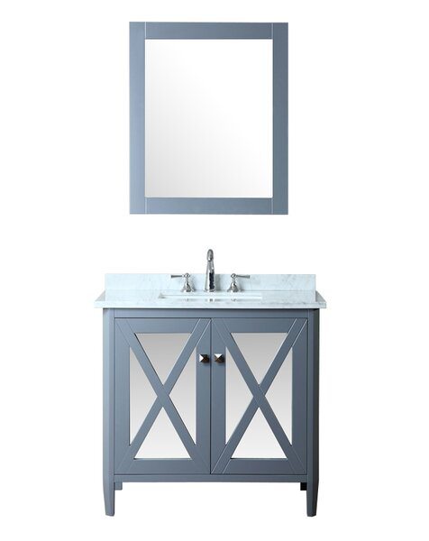 Summit 36 Single Bathroom Vanity Set with Mirror by Ariel BathSummit 36 Single Bathroom Vanity Set with Mirror by Ariel Bath
