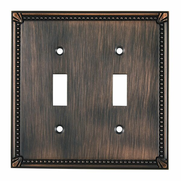 Double Toggle Switch Plate by Richelieu