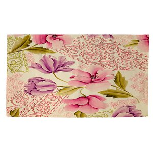 Tulips and Lace Area Rug