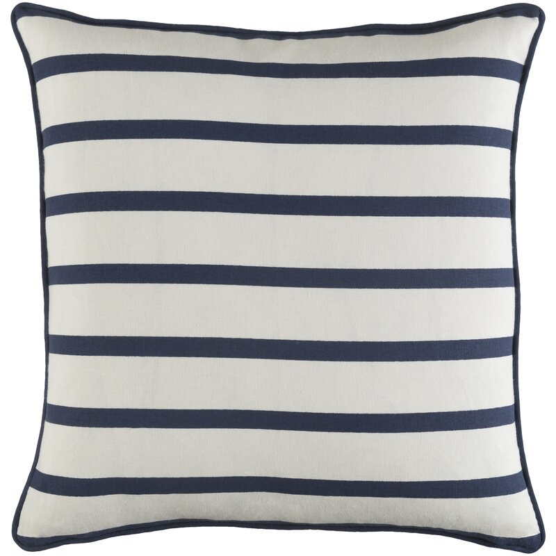 Yahya Contemporary Striped Cotton Throw Pillow