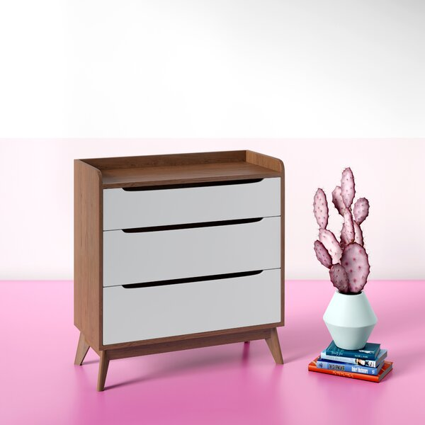 Cravens 3 Drawer Chest by Hashtag Home