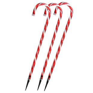 candy cane christmas set of 3 - Candy Cane Christmas Yard Decorations