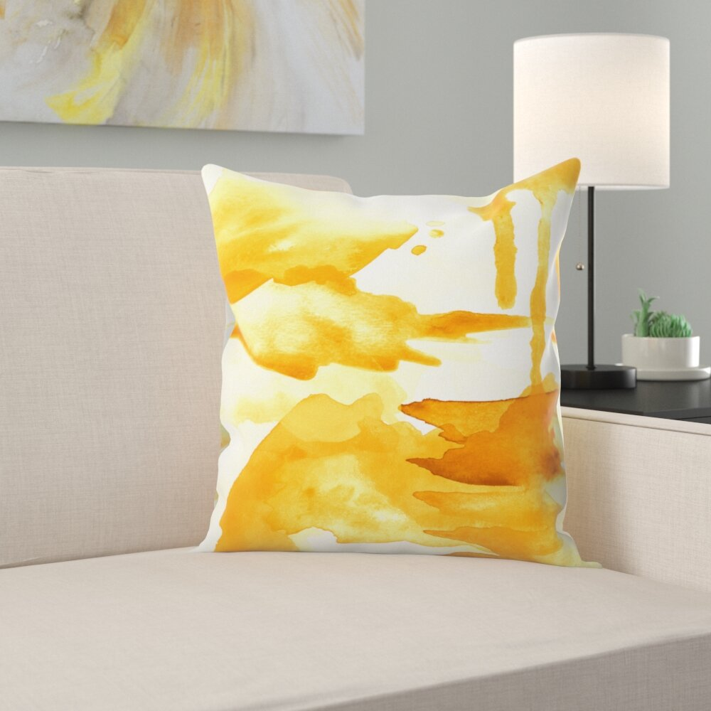 Spring Light Yellow Throw Pillow