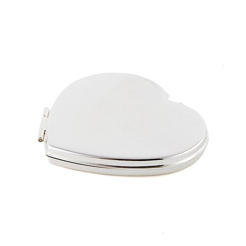 Classic Heart Shaped Compact Mirror by Weddingstar