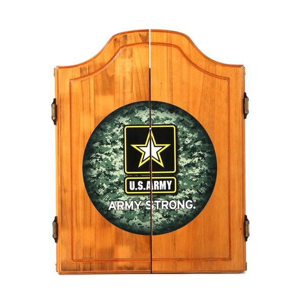 U.S. Army Digital Camo Wood Dart Cabinet Set by Trademark Global