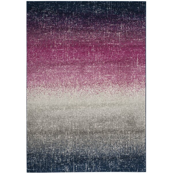 Grieve Fuchsia/Navy Area Rug by Bungalow Rose