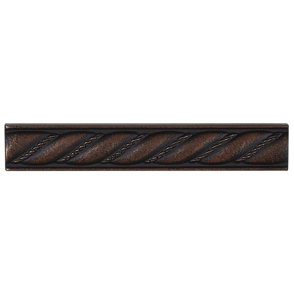 Tilden 1 x 6 Metal Liner Tile in Oil Rubbed Bronze by Itona Tile