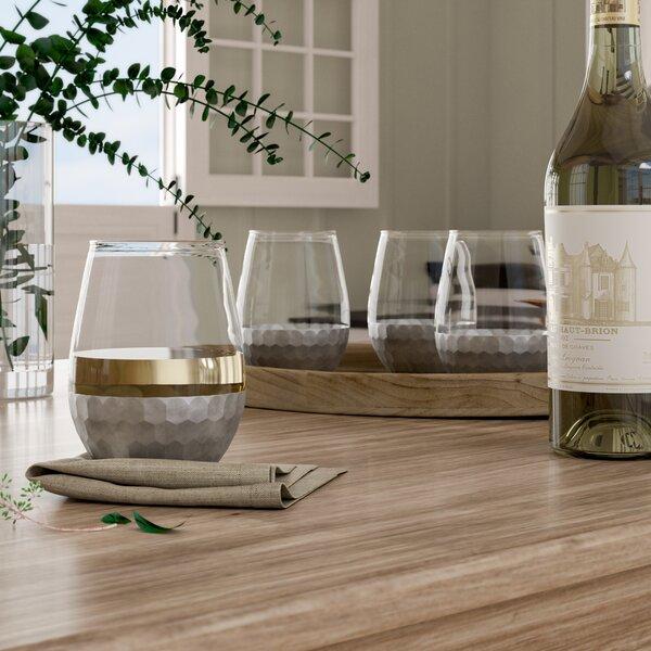 Chauncey Stemless Wine Glass (Set of 4) by Birch Lane™