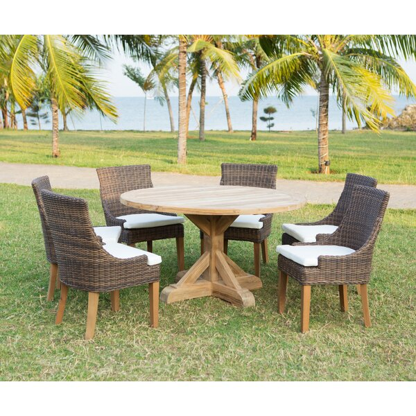 Daxton Solid Wood Dining Table by Rosecliff Heights