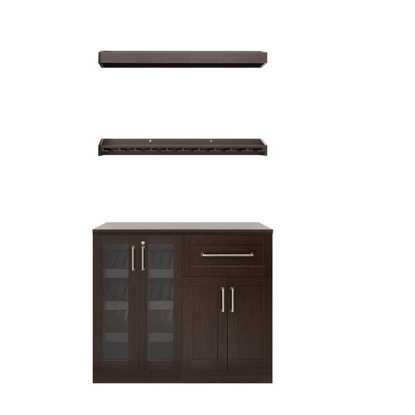 Home Bar 5 Piece Cabinet Set Shaker Style - 21-inch by NewAge Products NewAge Products