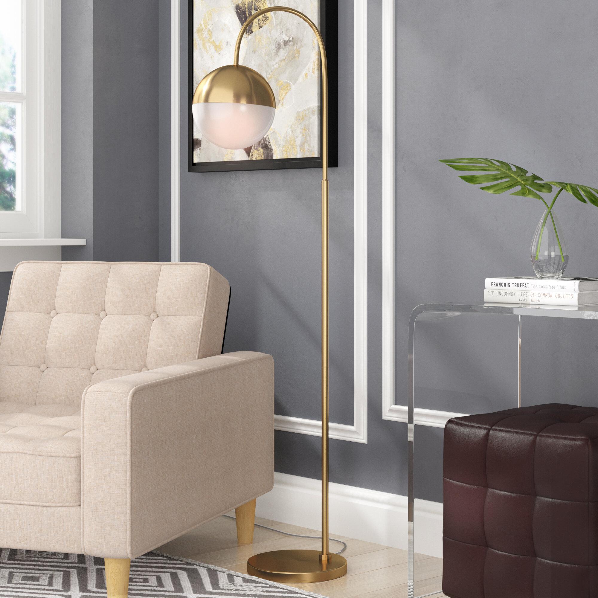 Phenomenal Sadie 55 5 Arched Floor Lamp Theyellowbook Wood Chair Design Ideas Theyellowbookinfo