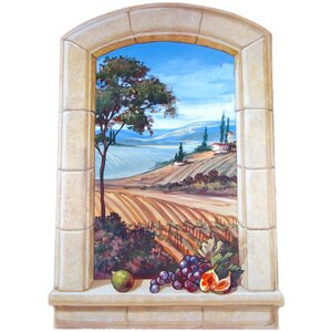 The Vineyard Faux Window Scene Painting Wall Plaque by Stupell Industries