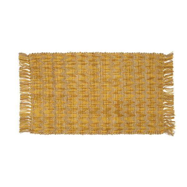 Hammons Chevron Hand-Woven Yellow Area Rug by Highland Dunes